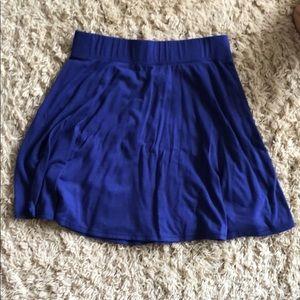 Blue retro styled skirt